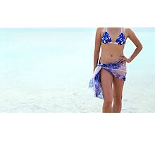 Young woman on vacation Photographic Print