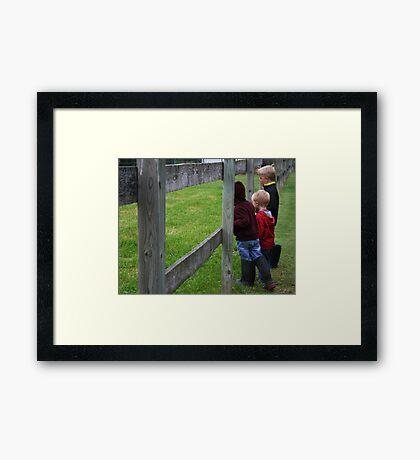 """Where are the horses?"" Framed Print"