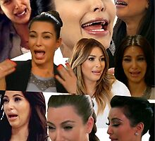 Kimmy K Crying Collage by ash15b