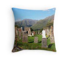 Clachan Duich Church Cemetery View Throw Pillow