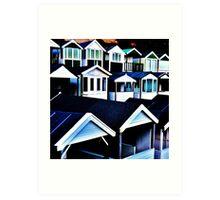 Round the Houses Art Print