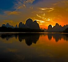 3502 - Xingping Sunset by Ray Mosteller