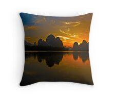 3502 - Xingping Sunset Throw Pillow