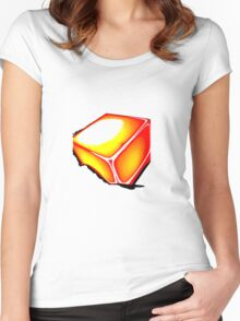 Sunset cube Women's Fitted Scoop T-Shirt