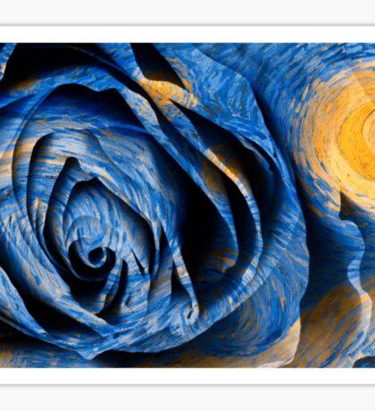 Starry Night Rose Vincent van Gogh Painting Sticker