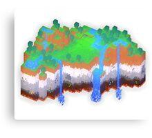 Minecraft Theme Canvas Print