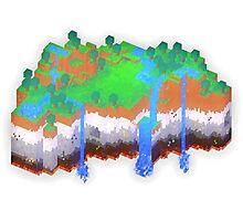 Minecraft Theme Photographic Print