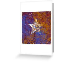 Rustic Star in Red, White, and Blue Greeting Card