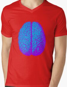 Psychedelic Brain Mens V-Neck T-Shirt