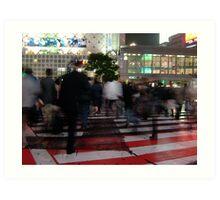 Shibuya Shadows Art Print