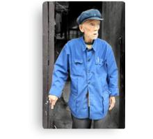 Mao's blue suit, China Canvas Print