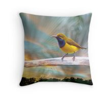 DADDY SUNBIRD FROM NTH .QLD. Throw Pillow