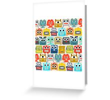 summer baby robots Greeting Card