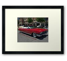 1960 Red Cadillac Eldarodo Convertible Framed Print