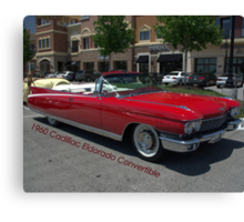 1960 Red Cadillac Eldarodo Convertible Canvas Print