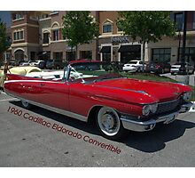 1960 Red Cadillac Eldarodo Convertible Photographic Print