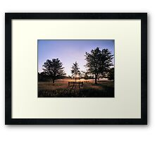 Framing the sunrise on Hob Moor Framed Print