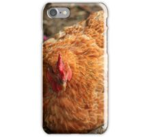 Brown Rooster in a Field iPhone Case/Skin