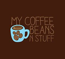 My Coffee beans n stuff by jazzydevil