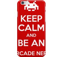 be an arcade nerd iPhone Case/Skin