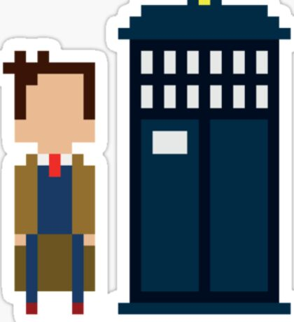 Dr Who Mini-figure  Sticker
