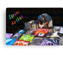 Street Spray Paint Artist Canvas Print