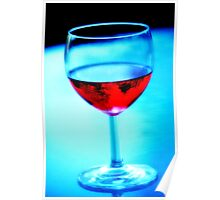 Glass Of Red Wine Poster