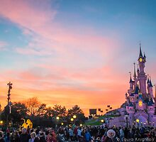 Sleeping Beauty Castle at Dusk by ThatDisneyLover