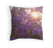 Jacaranda tree Throw Pillow
