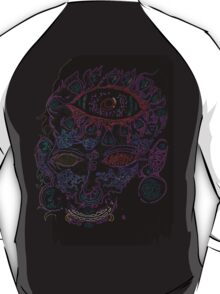 Psychedelic Third Eyed Jesus Neon T-Shirt