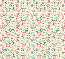 Romantic Pastel Floral Pattern by bimbys