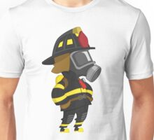 Firefighter arms akimbo Unisex T-Shirt