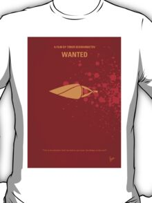 No176 My Wanted minimal movie poster T-Shirt