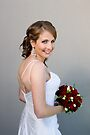 Bride and bouquet by Stephen Colquitt