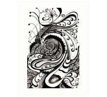 57: black and white abstract Art Print