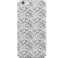 Cute Doodle Hearts Pattern Background iPhone Case/Skin