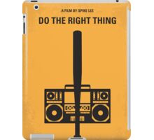 No179 My Do the right thing minimal movie poster iPad Case/Skin