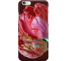 Two Red Tulips Vector Isolated iPhone Case/Skin