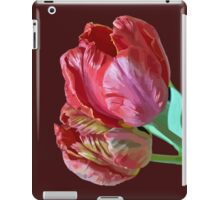 Two Red Tulips Vector Isolated iPad Case/Skin
