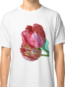 Two Red Tulips Vector Isolated Classic T-Shirt