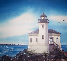 """Coquille River Lighthouse"" by Mae Pilon"
