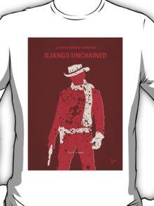 No184 My Django Unchained minimal movie poster T-Shirt