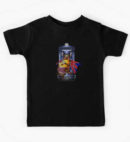 Doctor Cartoons Parody with england flag Kids Tee