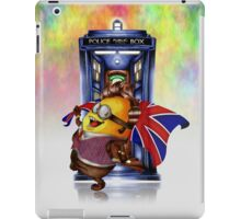 Doctor Cartoons Parody with england flag iPad Case/Skin