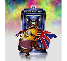 Doctor Cartoons Parody with england flag Photographic Print