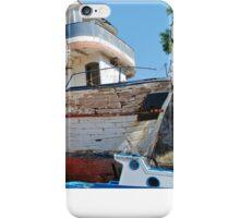 Lazy Days boat on Symi iPhone Case/Skin