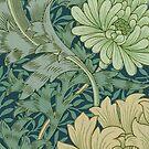 Wallpaper Sample with Chrysanthemum by Bridgeman Art Library