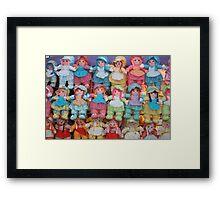 Doll Parade. Framed Print