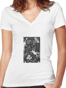 Rock Cover Women's Fitted V-Neck T-Shirt