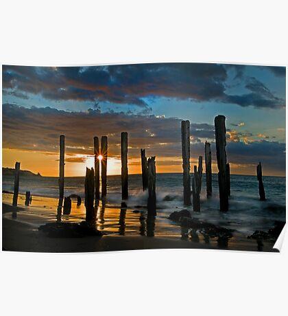 Port Willunga Sunset 1 Poster